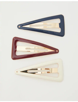 3 Pack Of Triangle Hair Slides by Pull & Bear