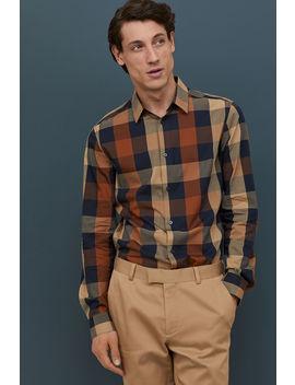 Slim Fit Plaid Shirt by H&M