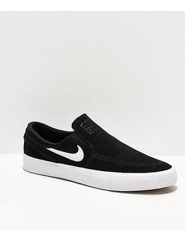 Nike Sb Janoski Rm Black & White Slip On Skate Shoes by Nike Sb