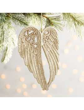 Gold Angel Wing Ornament by Pier1 Imports