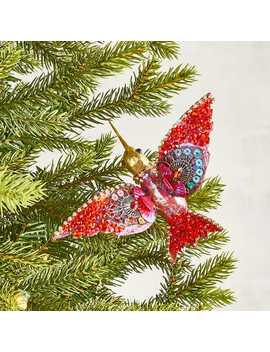 Red Sequined Hummingbird Clip Ornament by Pier1 Imports