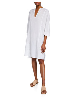 Seamed Popover Dress by Vince