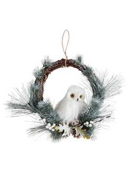 Frosted White Owl Wreath by Pier1 Imports