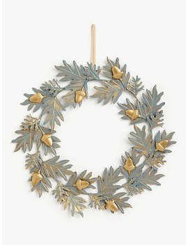 John Lewis & Partners Campfire Metallic Acorn Wreath, Copper / Grey by John Lewis & Partners