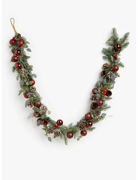 John Lewis & Partners Traditions Bauble Garland, Ruby by John Lewis & Partners