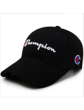 New Champion Hip Hop Hat Sport Baseball Cap Snapback Embroidery For Unisex Men by Unbranded