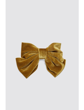 Velvet Bow Barrette by Zara