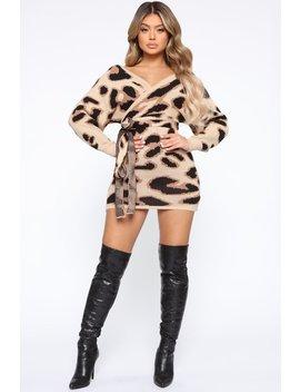 Don't Hate Sweater Mini Dress   Taupe by Fashion Nova