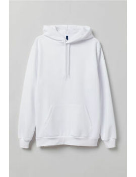 $130 H&M Men's White Long Sleeve Pullover Cotton Sweater Hoodie Sweatshirt M by H&M