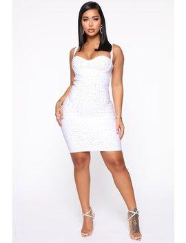 Sugar Baby Mini Dress   White by Fashion Nova