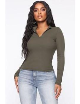 Reminds Me Of You Top   Olive by Fashion Nova