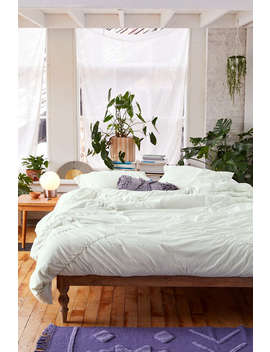 Sia Mint Knotted Duvet Cover by Urban Outfitters