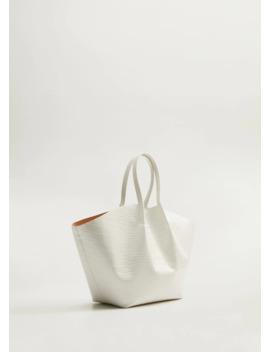 Τσάντα σε όψη κροκόδειλου by Mango