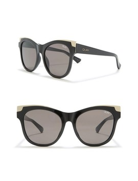 It's My Way Gold 56mm Large Cat Eye Sunglasses by Quay Australia