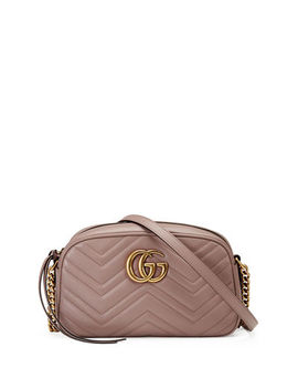 Gucci Gg Marmont Small Quilted Camera Bag by Gucci