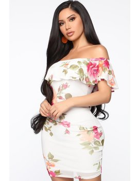 Ladies Know Best Floral Mini Dress   Off White by Fashion Nova
