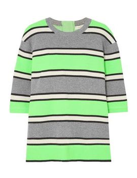 Neon Striped Cashmere Top by Marc Jacobs