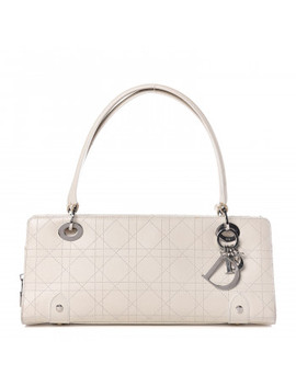 Christian Dior Calfskin Cannage East West Lady Dior White by Christian Dior