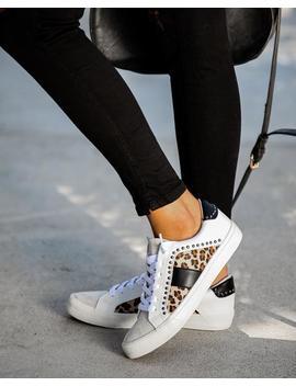 Speedway Studded Leopard Sneaker by Vici