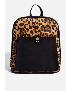 **Leopard Teardrop Backpack By Skinnydip by Topshop