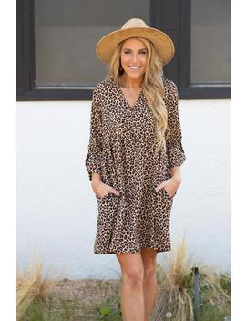 Jungle Queen Leopard Dress   Brown by Hazel & Olive