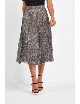Pleated Mesh Skirt by Next