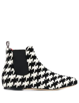 Geometric Print Ankle Boots by Bams