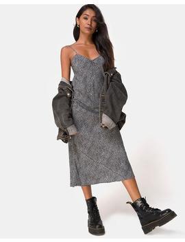 Julia Dress In Ditsy Leopard Grey By Motel by Motel