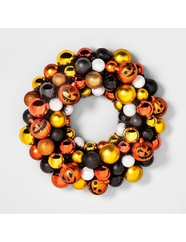 Halloween Jack O Lantern Decorative Wreath   Hyde & Eek! Boutique™ by Shop Collections