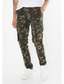 Camo Print Cargo Skinny Pants by Rue21