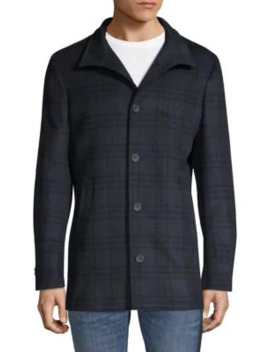 Plaid Wool & Cashmere Jacket by Saks Fifth Avenue Made In Italy