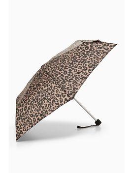 Leopard Print Umbrella by Topshop