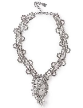 Loraine Silver Tone Crystal Necklace by Dannijo