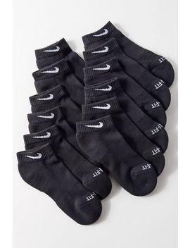 Nike Everyday Plus Cushion Quarter Sock 6 Pack by Nike