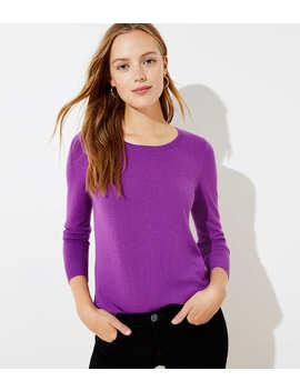 Essential Round Neck Sweater by Loft