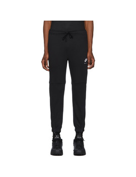 Black Nike Edition Logo Lounge Pants by 1017 Alyx 9 Sm