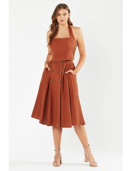 Lina Midi Skirt   Paprika by Tigerlily