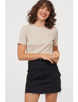 Denim Cargo Skirt by H&M