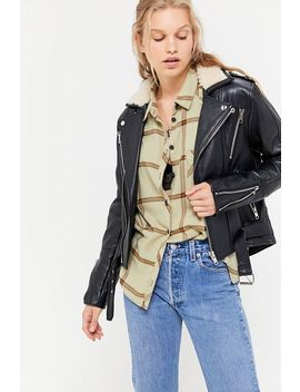 Urban Renewal X Pele Che Coco Shearling Leather Jacket by Urban Renewal