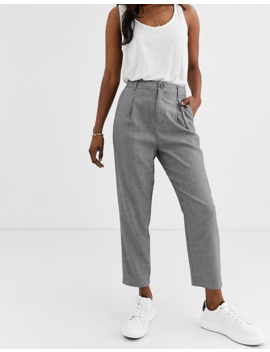 Stradivarius Chain Detail Tailored Pant In Grey by Stradivarius'