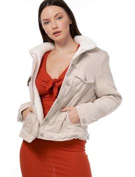 Faux Shearling Detail Jacket by Papaya