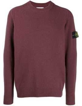 Logo Patch Knitted Sweater by Stone Island