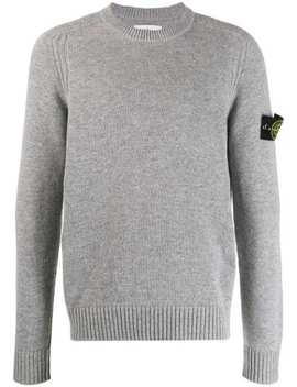 Logo Slim Fit Sweater by Stone Island