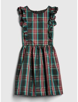 Kids Ruffle Plaid Taffeta Dress by Gap