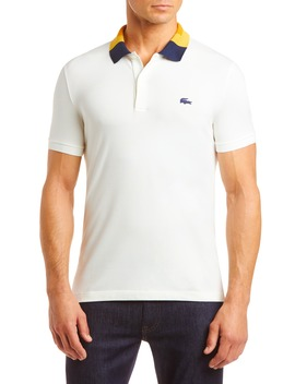 Slim Fit Colorblock Stretch Piqué Polo by Lacoste