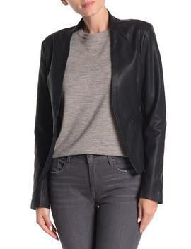 Faux Leather Blazer by Blanknyc Denim