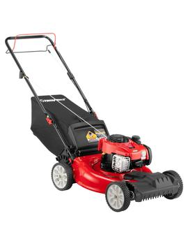 21 In. 140 Cc 550e Series Briggs & Stratton Gas Walk Behind Self Propelled Lawn Mower W/ 2 In 1 Tri Action Cutting System by Troy Bilt