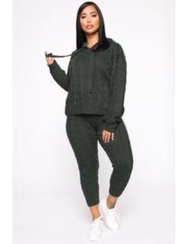 Can You Knit It Sweater Set   Dark Hunter by Fashion Nova