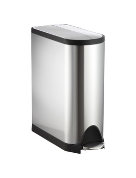 Simplehuman Stainless Steel 11.8 Gal. Butterfly Step Trash Can by Container Store
