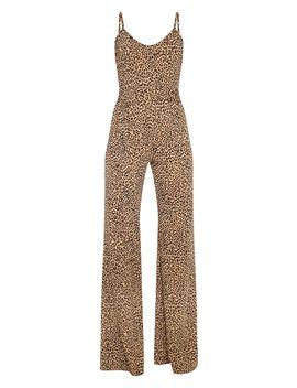 Tan Leopard Print Ring Belt Jumpsuit by Prettylittlething